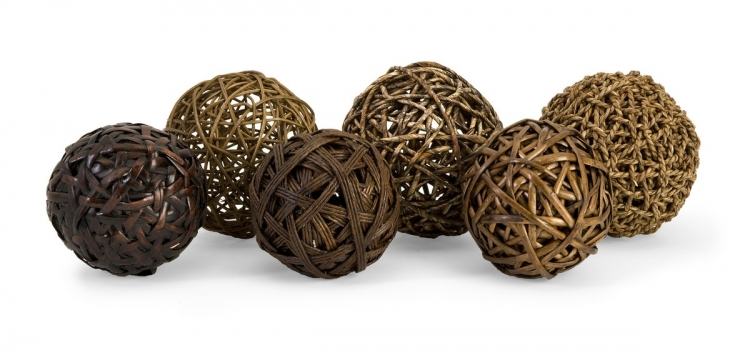 Worren Natural Wrapped Balls - Set of 6 - IMAX