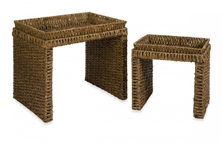 Trevonn Woven Tray Top Tables - Set of 2 - IMAX
