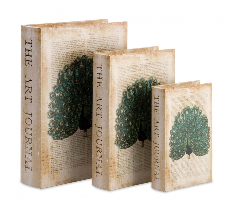 Peacock Book Boxes - Set of 3 - IMAX