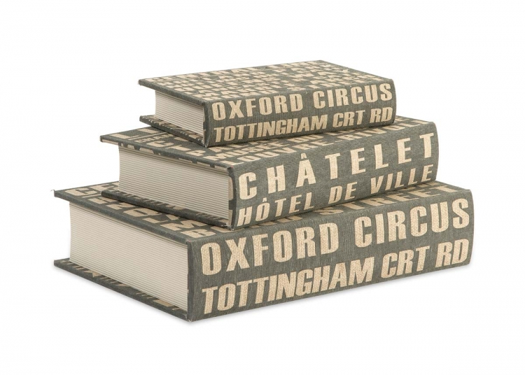 Central Line Book Boxes - Set of 3