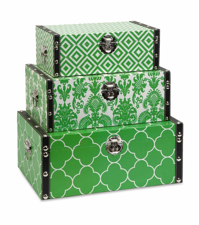 Essentials Storage Boxes - Green