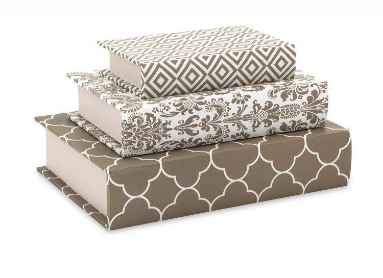 Essentials Book Boxes - Taupe