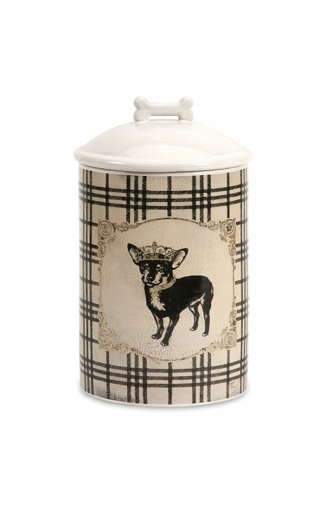 Dog Ceramic Canister Small