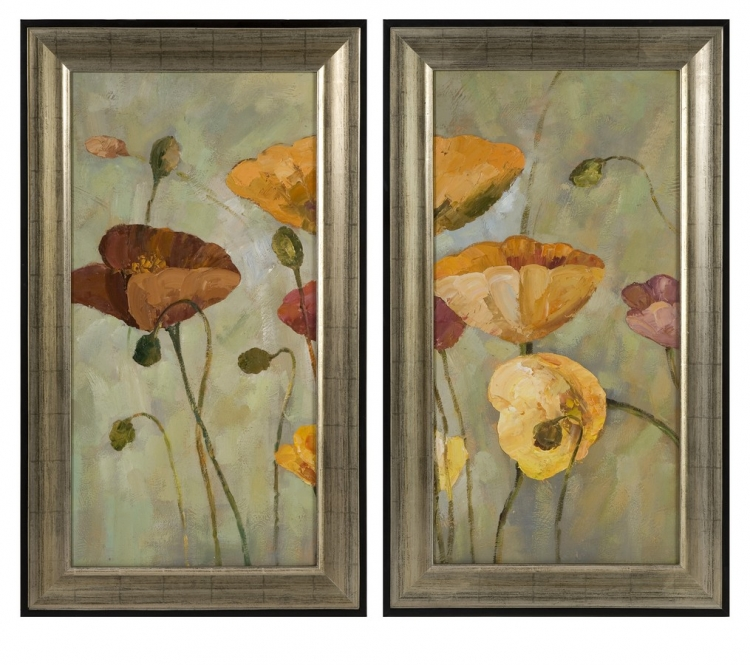 CK Rainbow Poppies Oil - Set of 2 - IMAX