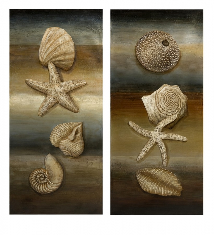 Westport Shell Still Life Oil Painting - Set of 2 - IMAX