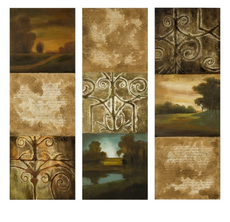 Manhasset Collage Oil Painting - Set of 3 - IMAX