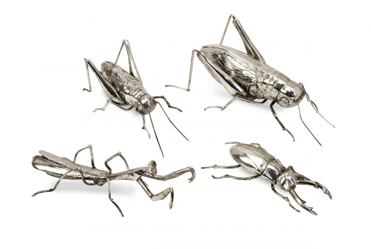 Butera Chrome Insects - Set of 4