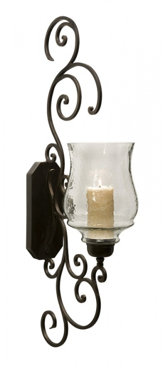 Angelina Grand Scrollwork Candle Sconce - IMAX