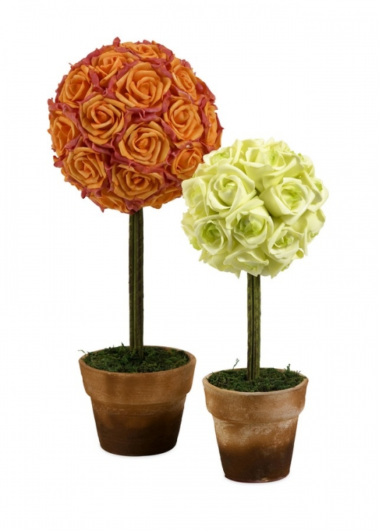 Aidelle Rose Topiaries - Set of 2