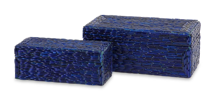 Indigo Bangle Boxes - Set of 2