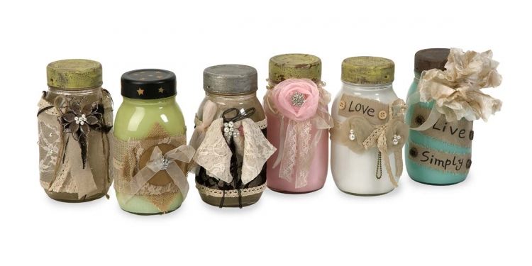 Mason's Vintage Jars - Set of 6 - IMAX