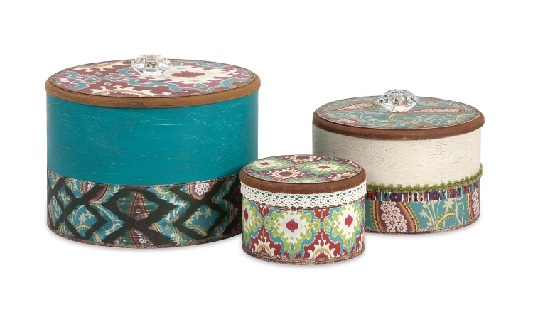 Tillie Round Boxes - Set of 3