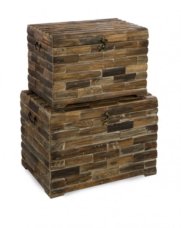 Moreton Wood Chests - Set of 2 - IMAX