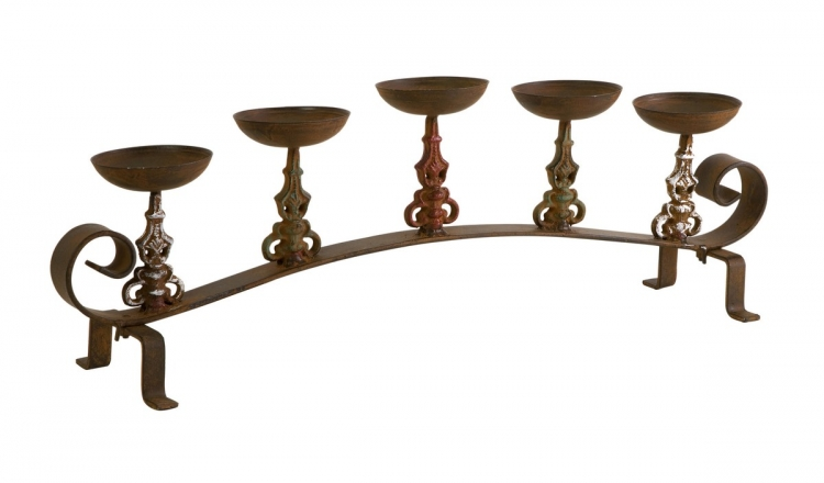 Torry Iron 5 Pillar Candleholder - IMAX