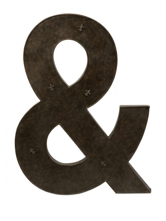Ampersand Metal Magnet Board with Magnets - IMAX