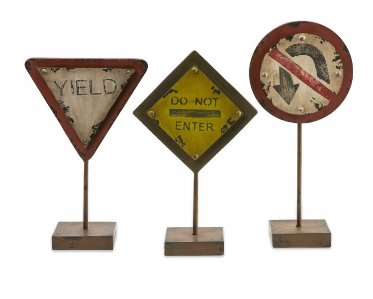 Tabletop Street Signs - Set of 3