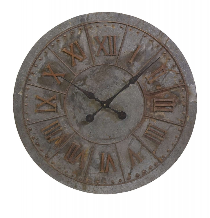 Gilbert Galvanized Clock - IMAX