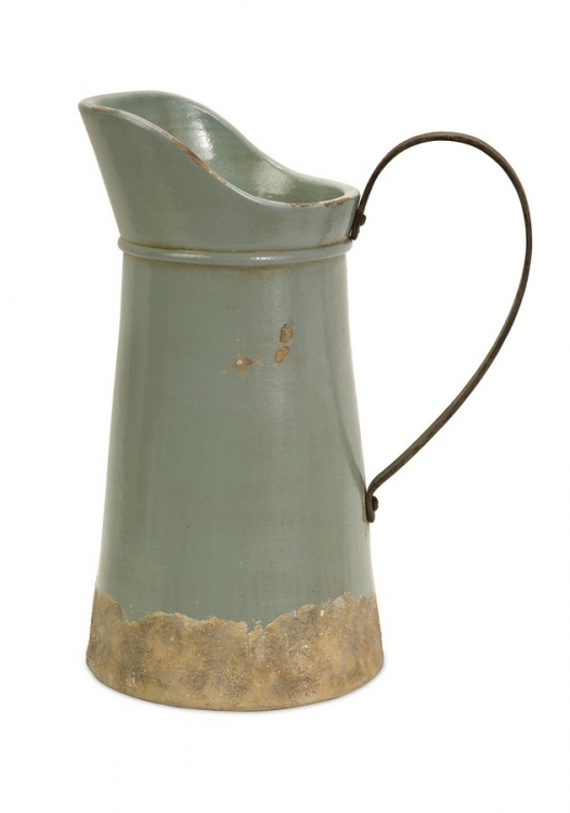 Calista Tall Pitcher W/ Metal Handle - IMAX
