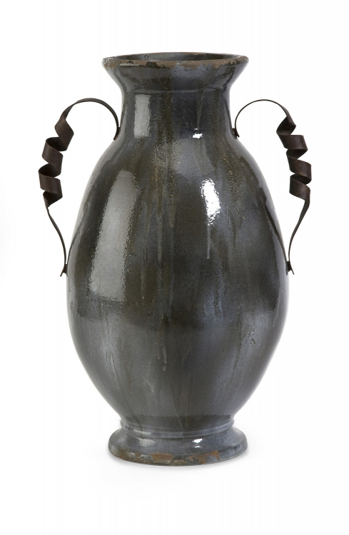 Bettina Large Vase with Iron Handle - IMAX