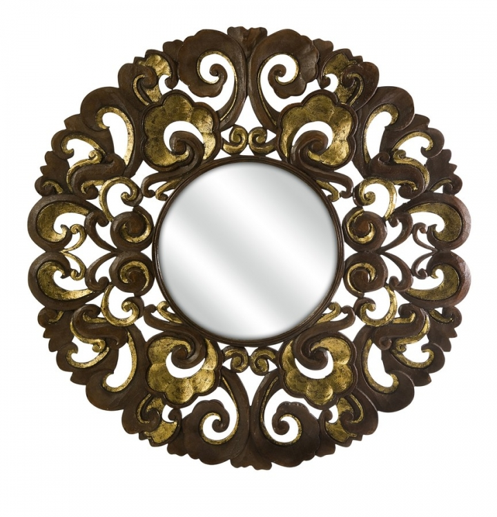 Nuri Handcrafted Wood Mirror - IMAX