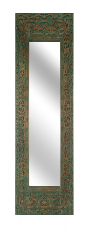Sanura Wood Carved Rectangle Mirror