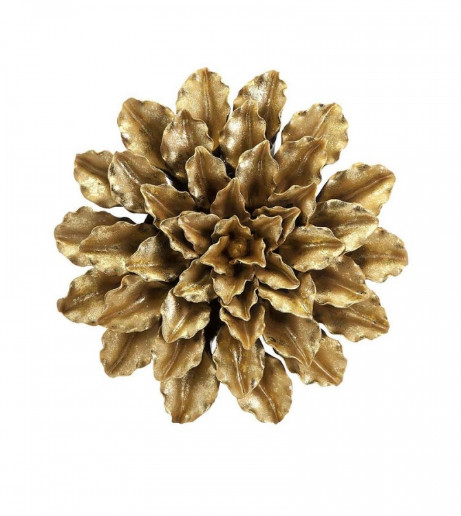 Agatha Gold Leaf Porcelain Wall Flower