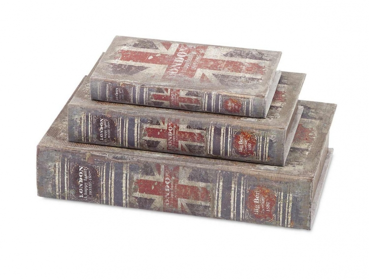 British Flag Book Boxes - Set of 3