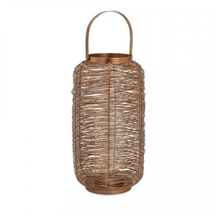 Harper Copper Painted Lantern - Large