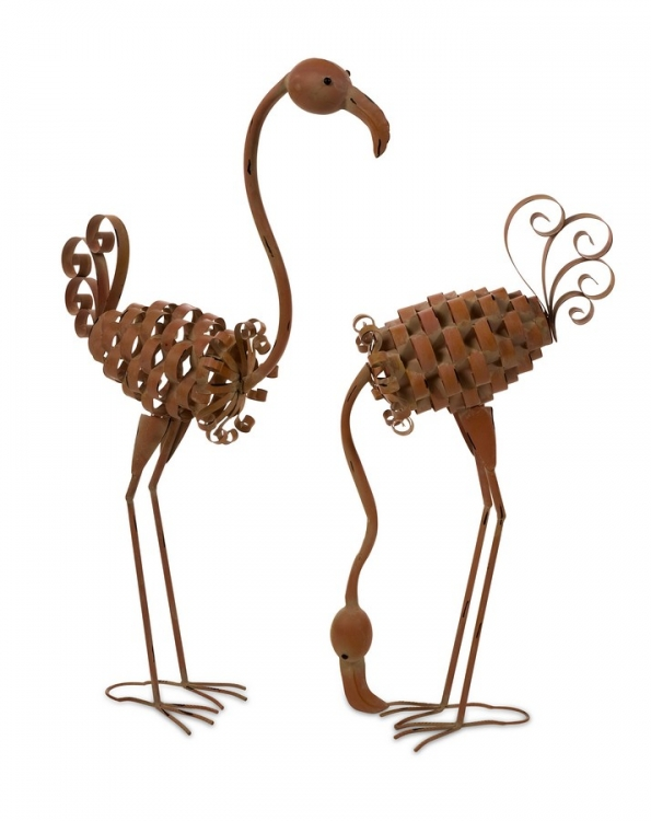 Waldron Metal Flamingos - Set of 2 - IMAX