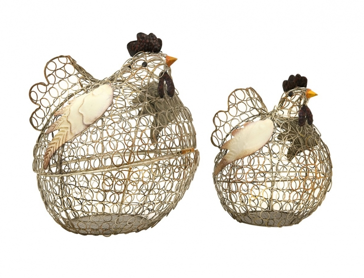 Elmore Wire Chickens - Set of 2