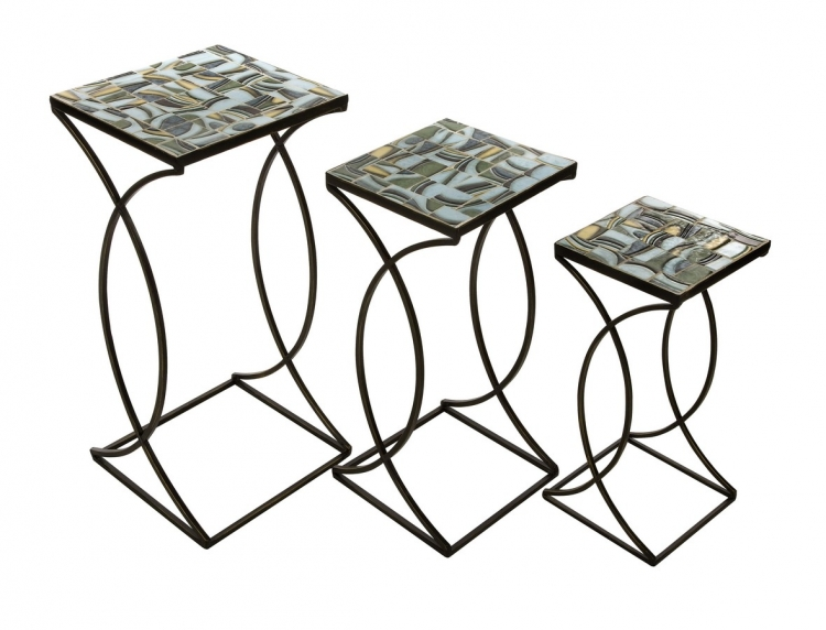 Crowley Mosaic Nesting Tables - Set of 3 - IMAX