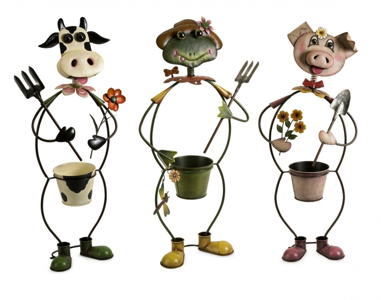 Farmhouse Friends Planters - Set of 3 - IMAX