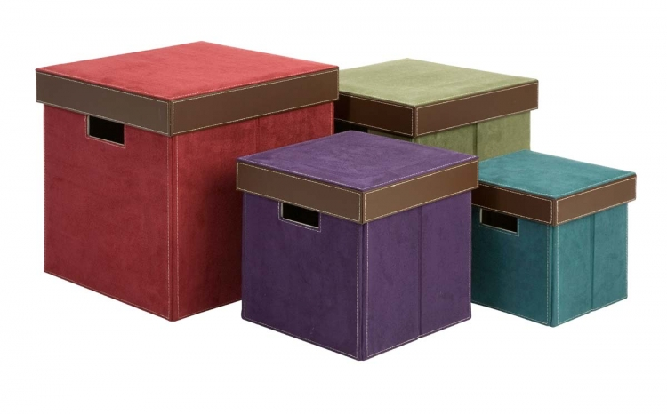 Teresa Square Storage Boxes - Set of 4 - IMAX