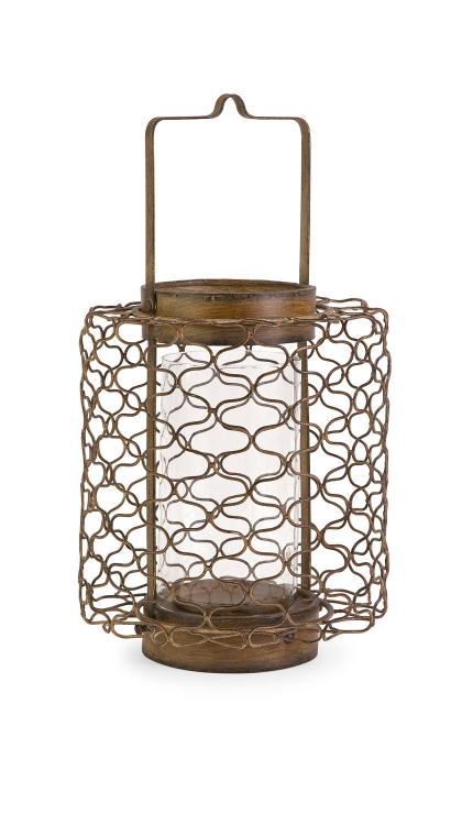 Escate Small Wire Latern with Glass Hurricane