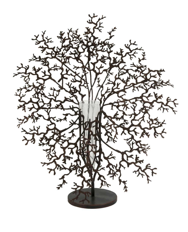 Antigua Metal Coral with Glass Vase Centerpiece - IMAX