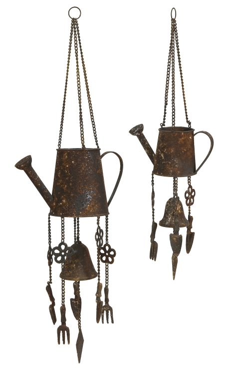 Watering Can Wind Chimes - Set of 2 - IMAX