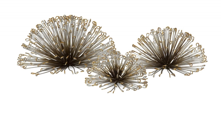 Laserette Wire Flower Wall Decor - Set of 3