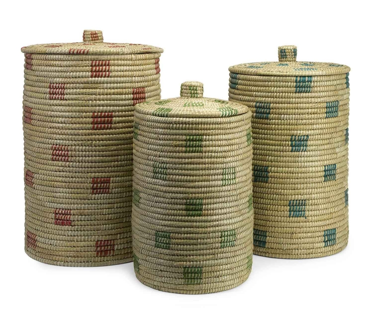 Afton Sea Grass Storage Baskets - Set of 3