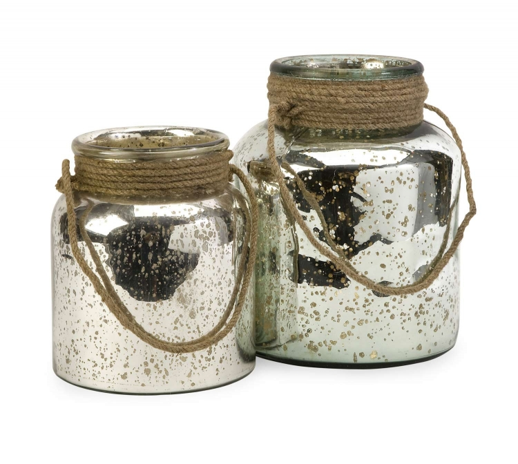 Bretton Jar with Jute Handle - Set of 2