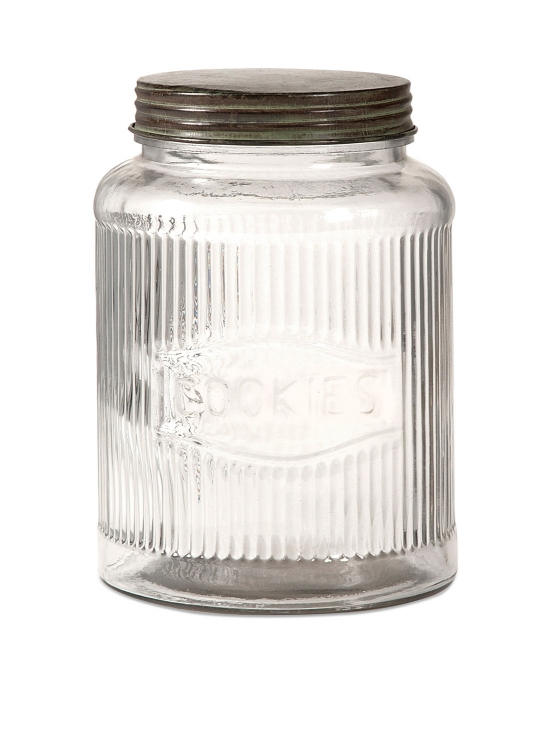 Dyer Glass Cookie Jar with Lid