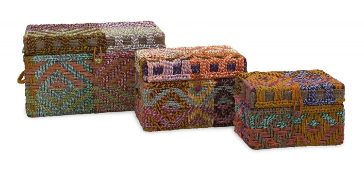Handsel Woven Rag Trunks - Set of 3 - IMAX