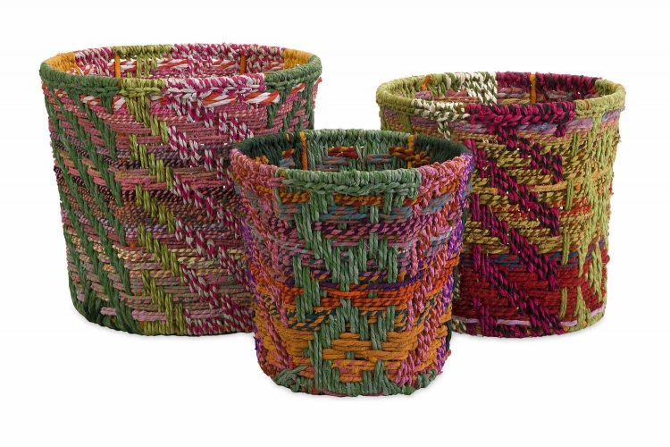 Handsel Rag Baskets - Set of 3 - IMAX