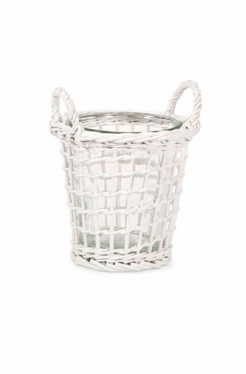 Tilton Medium Wicker Candle Lantern