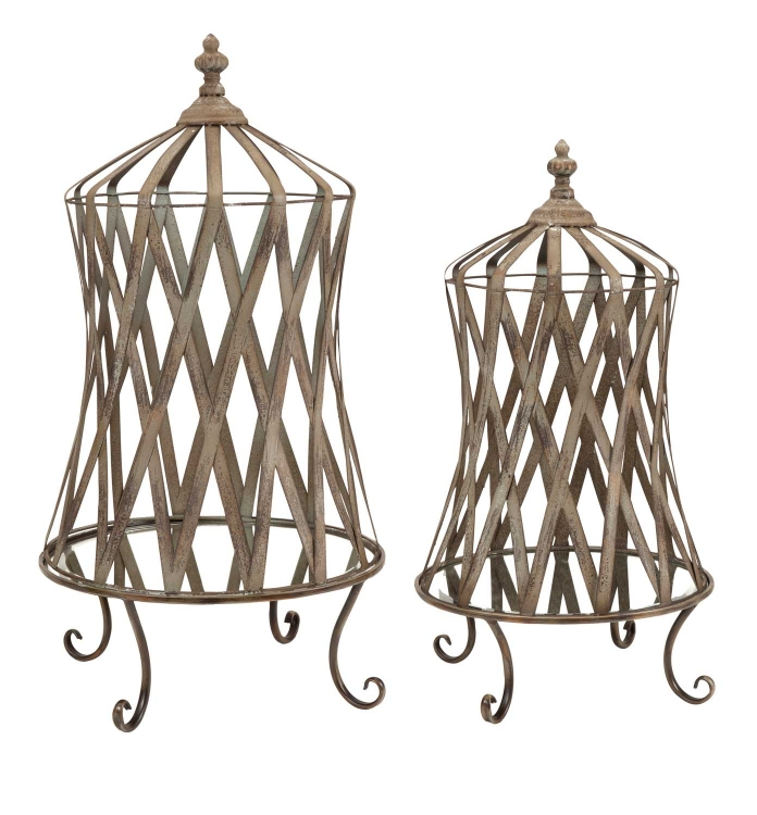 Westine Mirror Base Cloche - Set of 2