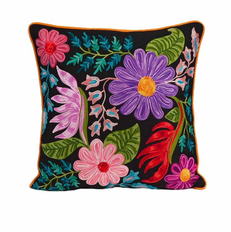 Midnight Floral Pillow