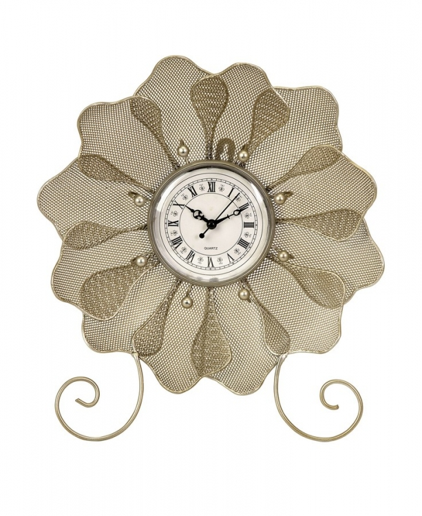 Utopia Flower Table Clock With Shell - IMAX