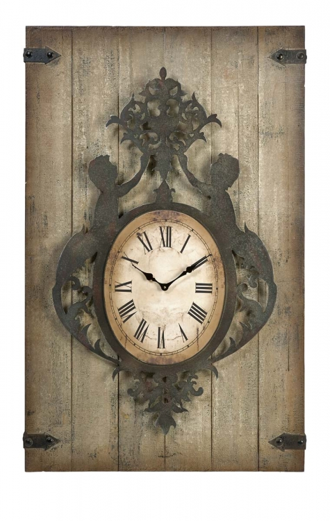 Felinz Wood and Metal Wall Clock - IMAX