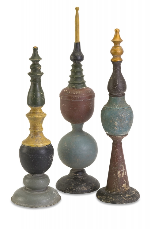 Turkana Decorative Finials - Set of 3 - IMAX
