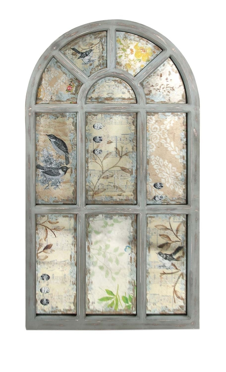 Leverne Antiqued Wall Mirror
