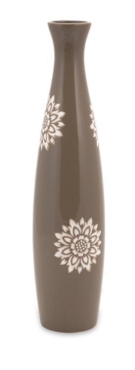 Essentials Taupe Tall Vase